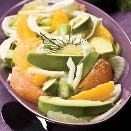 avocado fenchel zitrus salat rezept lecker. Black Bedroom Furniture Sets. Home Design Ideas