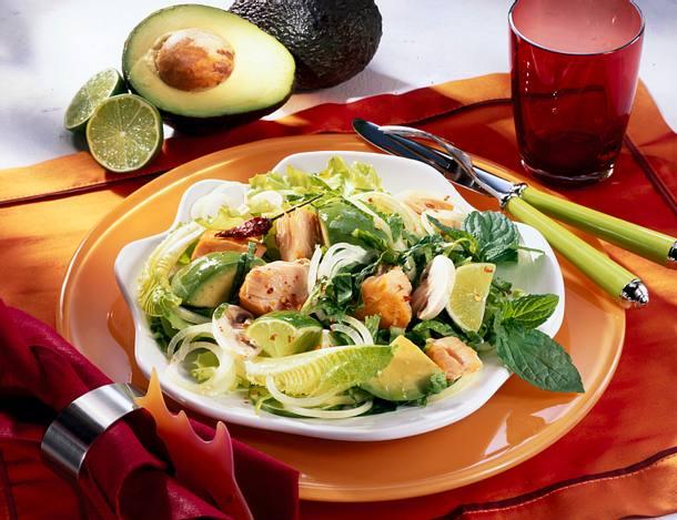 Avocado-Lachssalat Rezept
