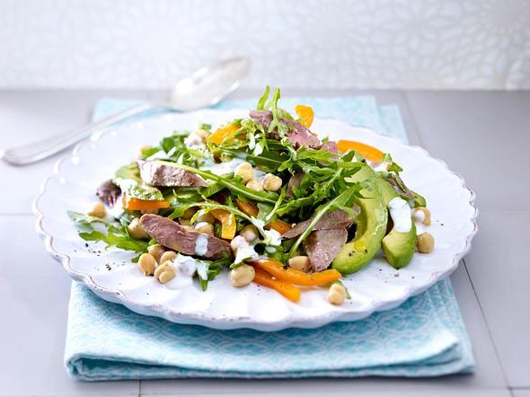 Avocado-Lamm-Salat mit Kichererbsen Rezept