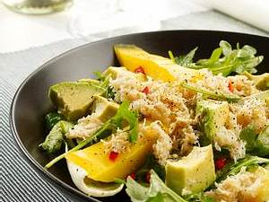 Avocado-Mango-Salat mit Krebsfleisch Rezept