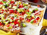 Avocado-Pizza Rezept