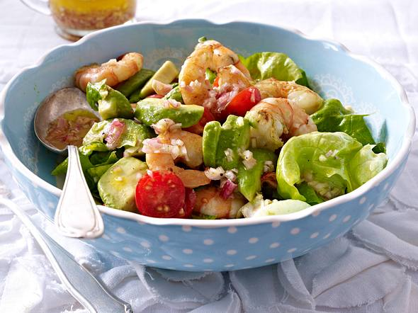 Avocado-Salat mit Garnelen Rezept