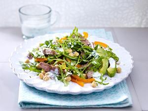 Avocadosalat mit Lammfilets Rezept