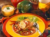 Backkartoffel mit Gemüsechili Rezept