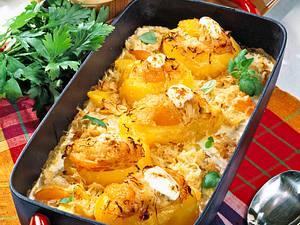 Backkartoffeln mit Aprikosen-Kraut Rezept