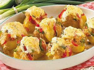 Backkartoffeln mit Paprikakraut Rezept