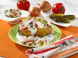 Backkartoffeln mit Pommern Spiess-Fleischsalat Rezept
