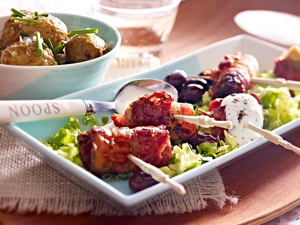Bacon-Tapas zu Meersalzkartoffeln Rezept
