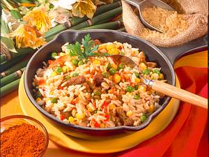 Balkan-Reispfanne Rezept