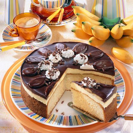 banana split torte rezept lecker. Black Bedroom Furniture Sets. Home Design Ideas