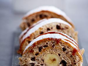 Banana-Stracciatella-Roll Rezept