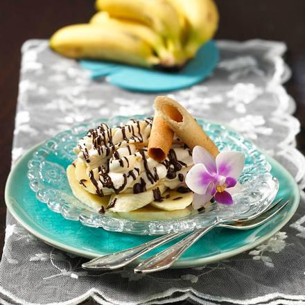 Banane in Schoko-Toffeecreme Rezept