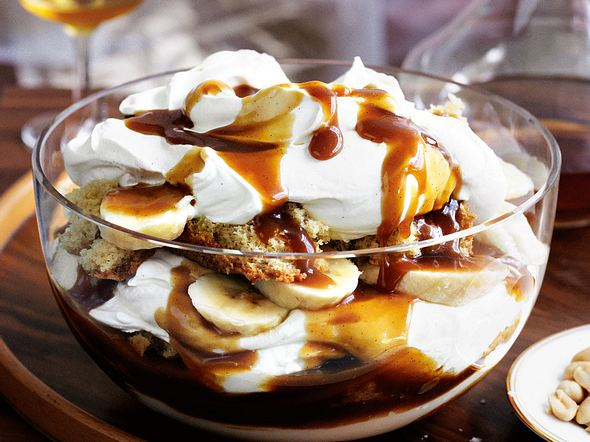 Bananen-Butterscotch-Trifle Rezept