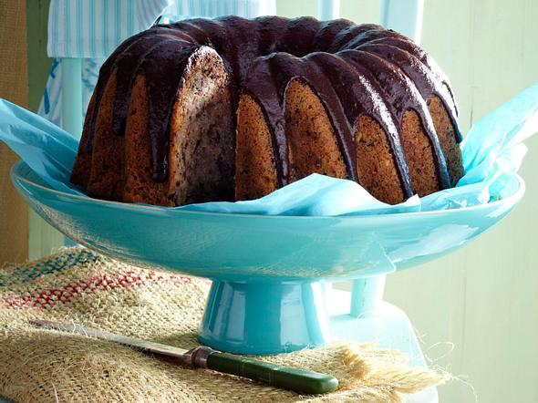 Bananen-Mandel-Schoko-Kuchen mit Avocadoguss Rezept