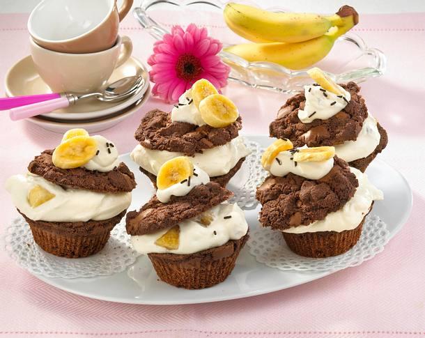 bananen split muffins rezept lecker. Black Bedroom Furniture Sets. Home Design Ideas