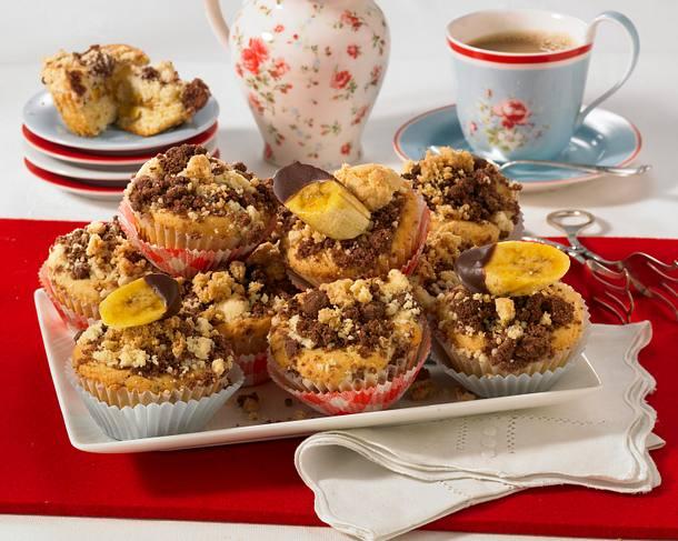 Bananenmuffins mit Streuseln Rezept
