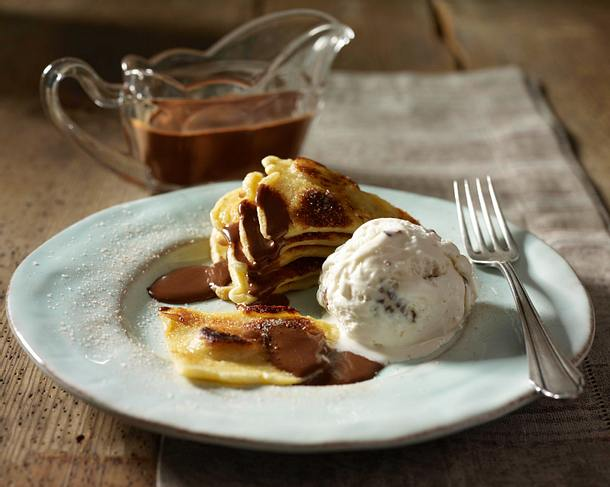 Bananenpfannkuchen mit Schokosoße Rezept