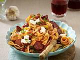 Bandnudeln in Tomatensoße mit Kabanossi Rezept