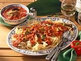 Bandnudeln mit Speck-Tomatensoße Rezept