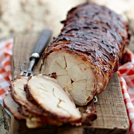 Barbecue-Tennessee-Schweinebraten mit Bacon Rezept
