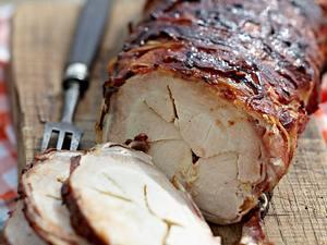 Barbecue-Tennessee-Schweinerücken mit Bacon Rezept