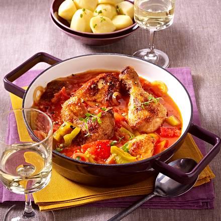 Baskisches Paprika-Hähnchen Rezept