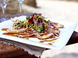Bauch vom Susländer Schwein in Teriyakisoße mit Gemüsesalat Rezept
