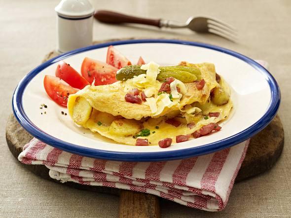 Bauernfrühstück mit Schinkenwürfeln Rezept