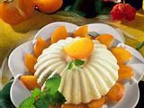 Bayerische Creme auf Sharon-Früchten Rezept
