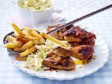 BBQ-Hähnchen zu Möhren-Kraut-Salat Rezept
