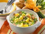 Béchamelkartoffel mit Erbsen und Kasseler Rezept