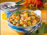Bechamelkartoffeln mit Schinken und Erbsen Rezept