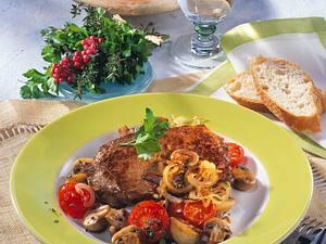 Beefsteak mit Tomaten & Pilzen Rezept