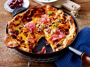 Big-Pan-Pizza Salami Rezept