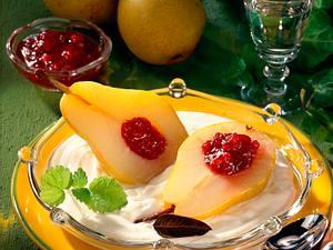 Birnen auf Zitronenquark Rezept