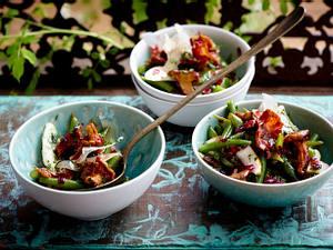 Birnen-Bohnen-und-Schinken-Salat mit Pfifferlingen Rezept