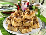 Birnen-Nuss-Kuchen vom Blech Rezept