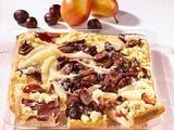Birnen-Pflaumen-Blechkuchen Rezept