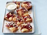 Birnen-Preiselbeer-Kuchen vom Blech Rezept