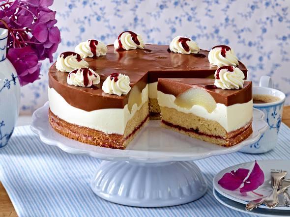 Birnen-Schoko-Torte Rezept