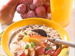 Birnen-Trauben-Müsli Rezept