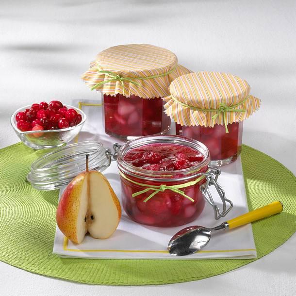 Birnenkonfitüre mit Cranberries Rezept