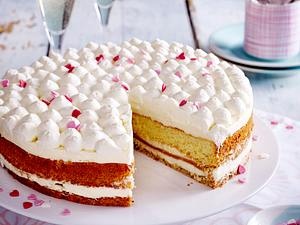 Biskuit-Vanille-Torte Rezept
