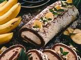 Biskuitrolle mit Bananen-Füllung Rezept