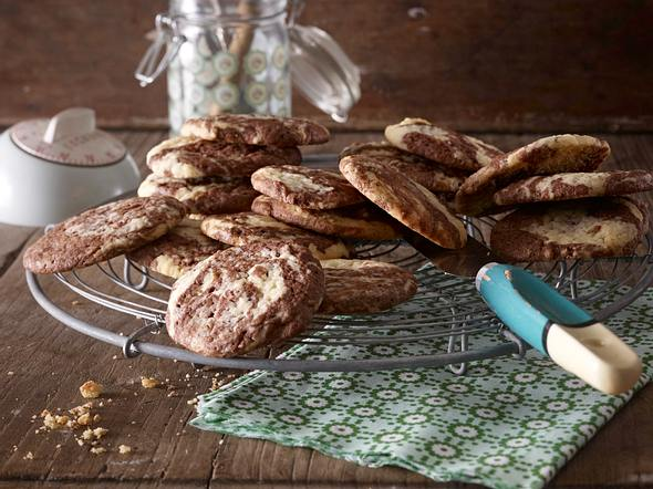 Black and white cookies Rezept