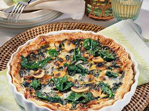 Blätterteig-Pie mit Spinat Rezept