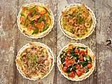 Blätterteig-Quiche mit Shrimps, Lauchzwiebeln und Dill Rezept