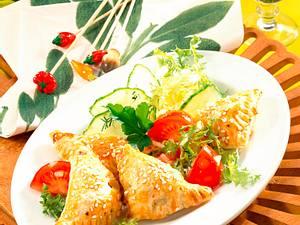 Blätterteigtaschen mit Spinat Rezept