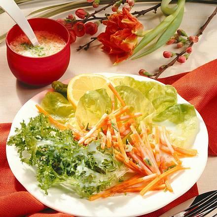 Blattsalat mit Buttermilchdressing Rezept