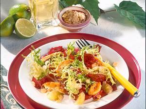Blattsalat mit Putenstreifen (Diabetiker) Rezept
